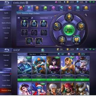 Mobile Legends Account (Singapore)