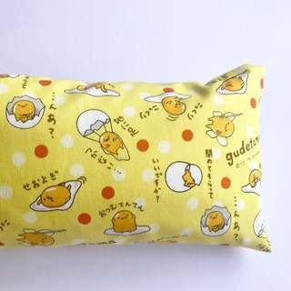 🌈 Bean Sprout Husk Pillow / Beanie Pillow , Fabric from Japan ( 100% Handmade 100% Cotton , Premium Quality!) size 15 x 40cm Gudetama