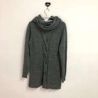 近全新羊毛針織洋裝連身裙顯瘦