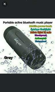 🚚 🆕Bluetooth S1 Speaker Portable Subwoofer Power Bank Rechargeable with LED light for Outdoor Sport+ 🆓 Mounting Bracket - Brand NEW! ✔ Tough, Strong, Sweet Bass Music🔊... Can Mount On Motorbike, Bicycle Or pmd  #PayDay30