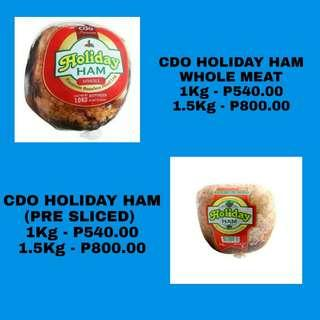 CDO HAM PRODUCTS ( FACTORY PRICE )
