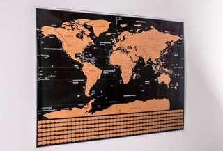 100%全新刮刮世界地圖