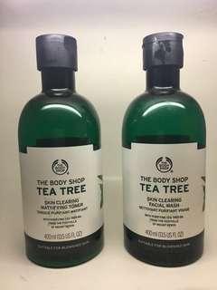 The Body Shop Tea Tree Facial Wash + Toner 400ml
