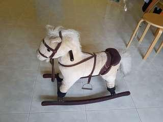 Wooden Rocking Horse with electronic sound and movement