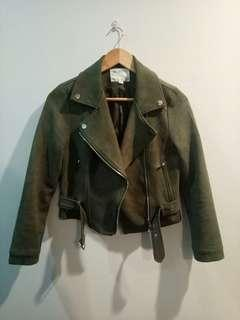 Khaki Green Biker Jacket