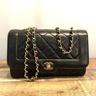 Authentic Chanel 10 Inch Diana Flap with 24k Gold Hardware
