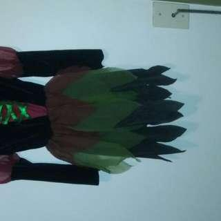 Witch Costume With Witch Hat Size 6-8