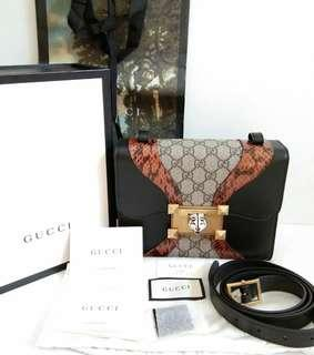 REPRICE  ❤Jual Tas Gucci Osiride Limited Edition Leather mix canvas