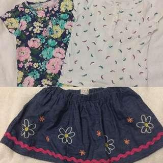 Baby Top and Skirt