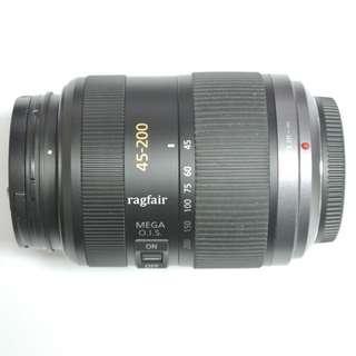 送順豐智能櫃 Panasonic 45-200mm F4.0-5.6 MEGA O.I.S 遠攝變焦長砲鏡頭 M43系統 Olympus EPL3 EPL7 E-PL8 EM10 E-M5 G7 GH4 GX85 GM1 GM5 GF9 GF10
