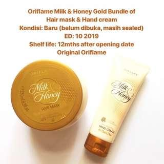 [FREE DELIVERY] Oriflame Milk & Honey Gold Bundle of Hair Mask & Hand Cream