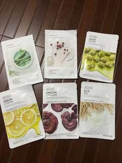 Innisfree and Face Shop Face Masks