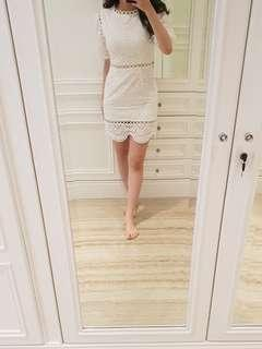 Zimmerman white perforated dress