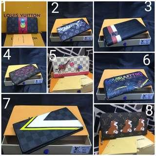 Unisex Lv Printed Wallet with box