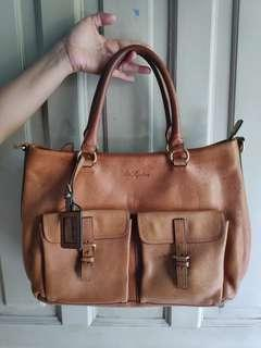 Tas / Handbag wanita merk ALLA PUGACHOVA Taiwan made authentic genuine leather mulus kulit sapi asli