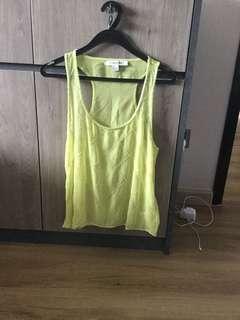 forever 21 neon green sleeveless top