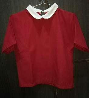 Blouse Wanita Warna Merah