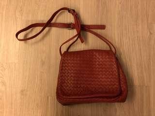 Leather Weaven Bag 織皮袋