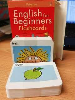 English for beginners flashcards for children