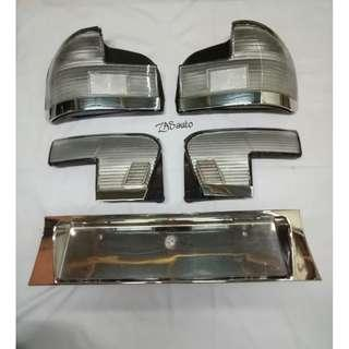 Lampu Belakang Wira 97 Sedan Albino + Reflector albino Wira Sedan 97 Complete set