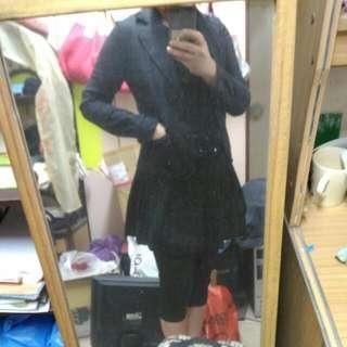 秋天黑色漾款中腰西裝外套~M號專櫃AllZ CAREER