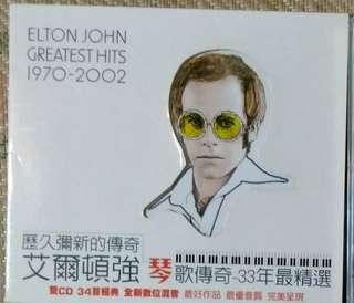 🚚 二手CD 艾爾頓強 歷久彌新的傳奇2CD,另兩張免費