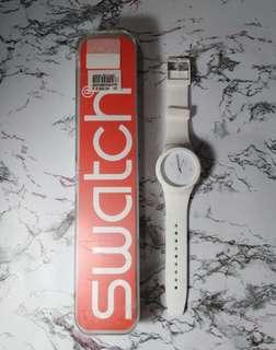 Swatch basic white chonograph