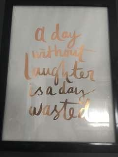 A day without laughter is a day wasted photo