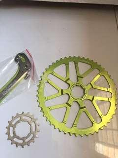 One up 50t extended cog