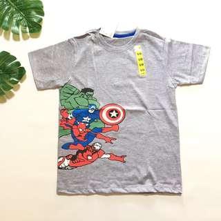 Kaos anak superhero grey