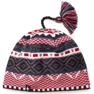 民族風 紅白灰 羊毛冷帽