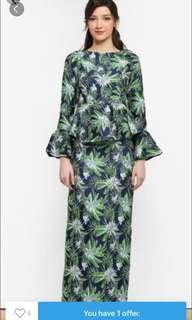 Zalia tropical print blouse