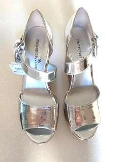 MBClub Silver Wedges Shoes