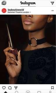 🚚 全新-黑色麂皮皮革皮質銀環頸鍊