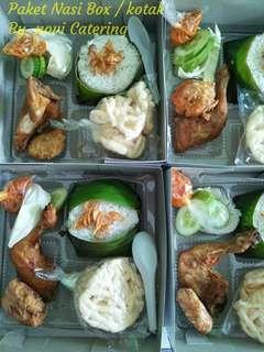 Paket nasi ayam with nasi box nasi kotak bento catering prasmanan jakarta bekasi
