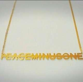 PEACEMINUSONE Necklace by Gdragon