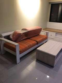有情門 常青雙人沙發 二手出售 台南面交 沙發+茶几