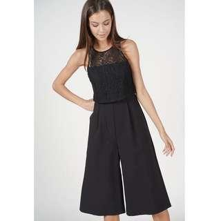 MDS collection Daenia Overlay Jumpsuit in Black Size S ( Black )