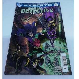 DC Universe Rebirth Batman Detective Comics #938