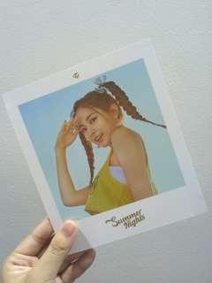 twice summer night dtna tzuyu postcard instock