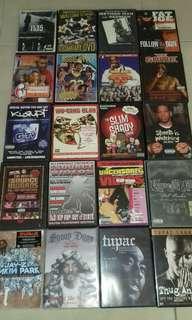 Huge Rap Hip hop 20 DVD Collection original USA pressing like new Jay Z, Eminem, WU Tang, Nas, Snoop 5