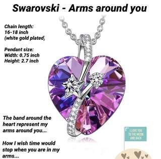 🚚 Arms around you Swarovski crystal necklace