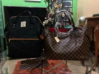 Louis Vuitton High Ended Quality Bundle Set with Anello Backpack