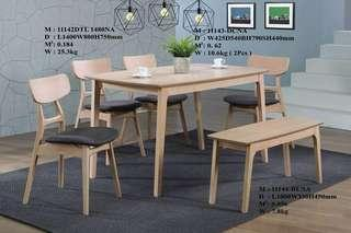 Dining Set 1+6 -  Solid wood