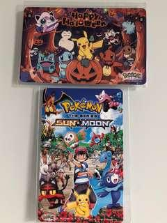 Limited edition brand new set of 2 Pokémon Pikachu Sun & Moon and Halloween Ezlink cards for sale .
