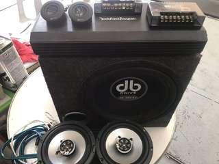 Sub Woofer amp full set