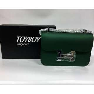 [Promotion]TOYBOY Mbox Jelly Bag Chain Shoulder Women Bag Ladies Bag Waterproof(Green)