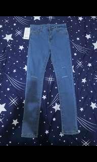 🚚 全新超顯瘦牛仔長褲