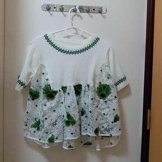 Silk Embroidery Top 絲綢刺繡娃娃上衣