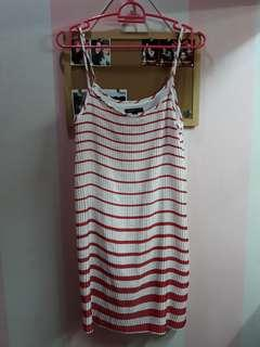 Red Striped Casual Dress